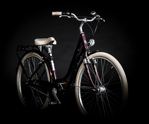 rotes city bike